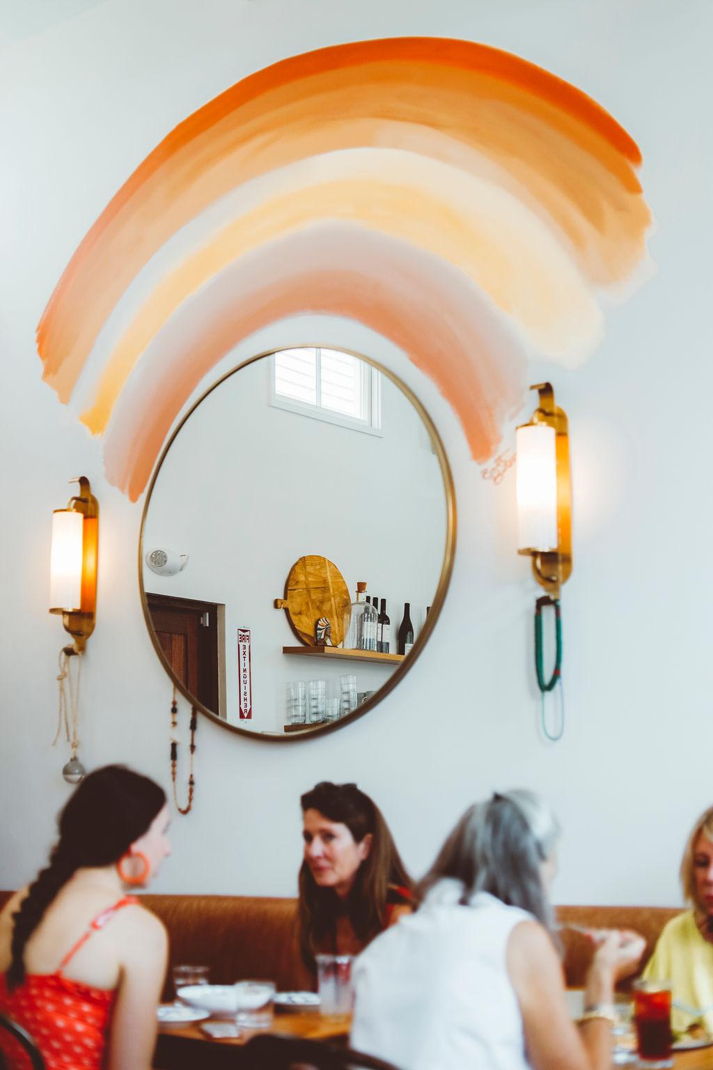 Mirror artwork at Basic Kitchen