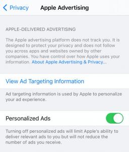 screenshot example of LAT tracking