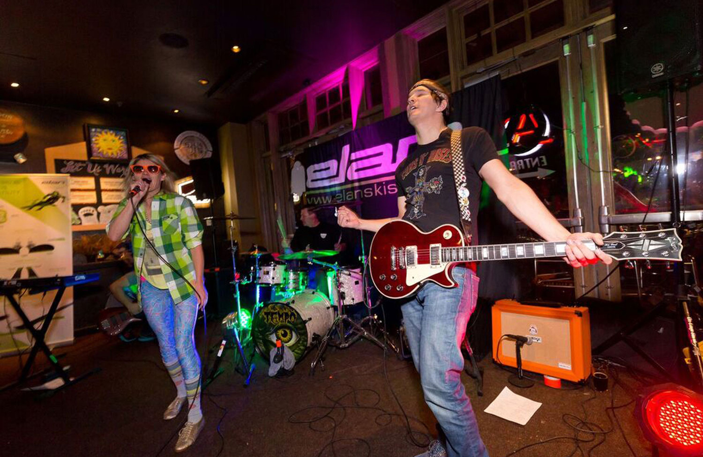 Rock Band performing at an Elan event