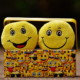 Emoji plushies in emoji box