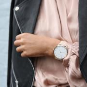 Female Influencer wearing a watch
