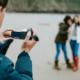 Man taking video of women