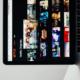 Computer displaying Netflix on scren
