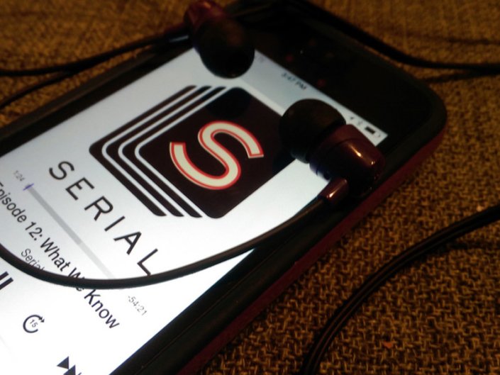 iPhone showing Serial podcast