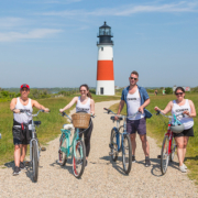 Press and influencers at CBC Summer House in Nantucket