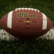 Football on placed on a field