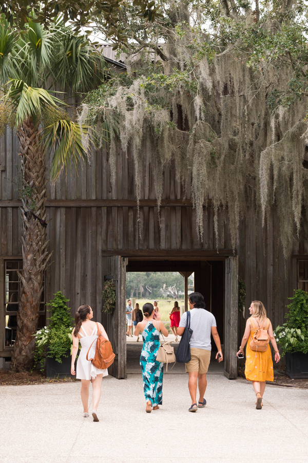Press and influencers on a tour at the Charleston Experience