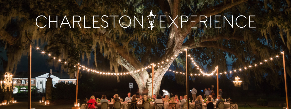 Influencers and press eating outside at Charleston Experience
