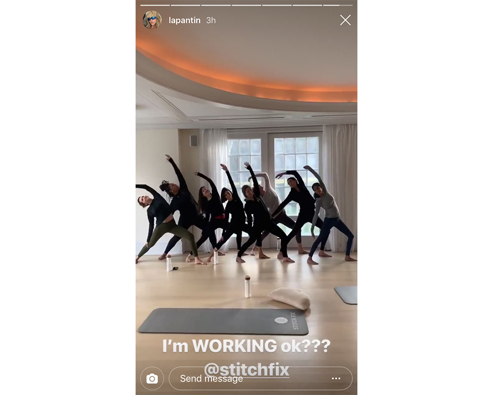 Stitch Fix influencers doing yoga
