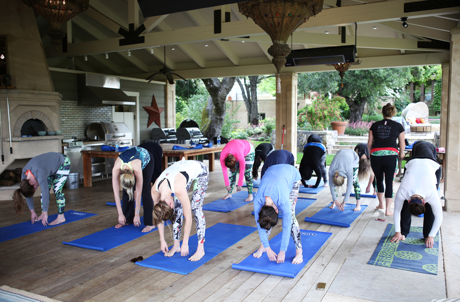 group yoga at Culinary House