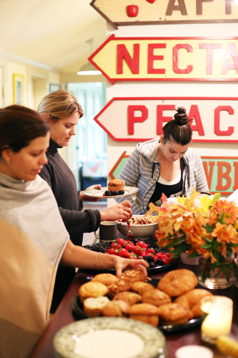 Farm-to-table dinner at Garnet Hill Hudson House press weekend