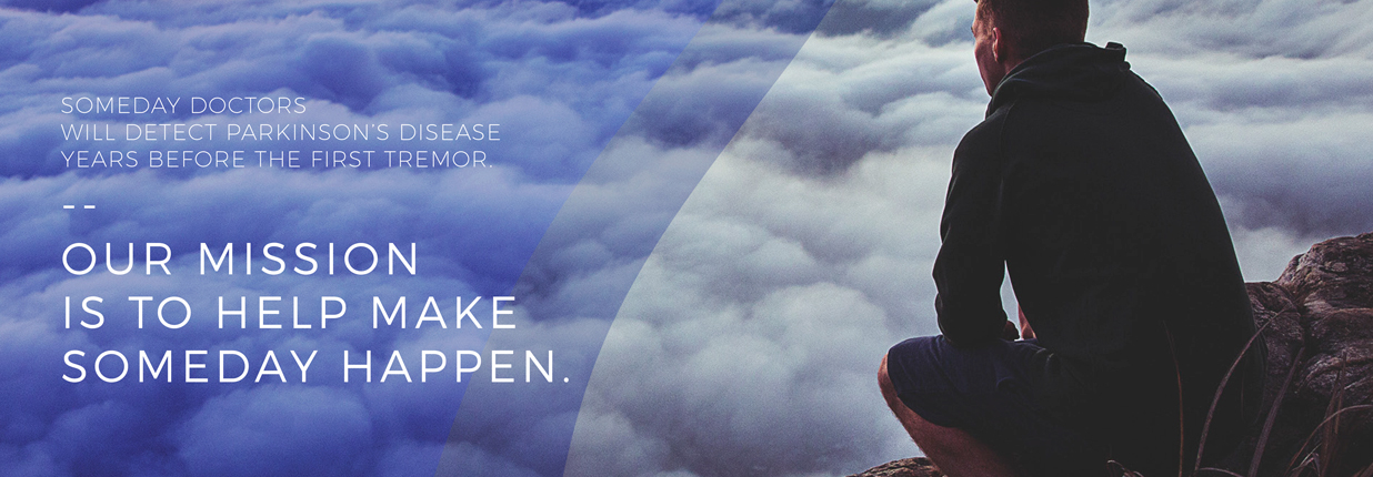 Likemind advertisement of a man at a mountaintop overlooking the clouds