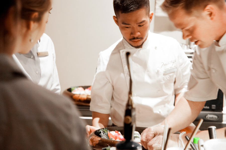 Chefs preparing a meal for influencers at Deer Valley Experience