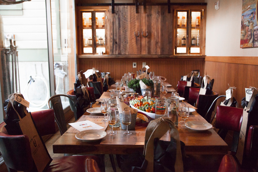 Rustic dinner table with platting at Deer Valley Experience