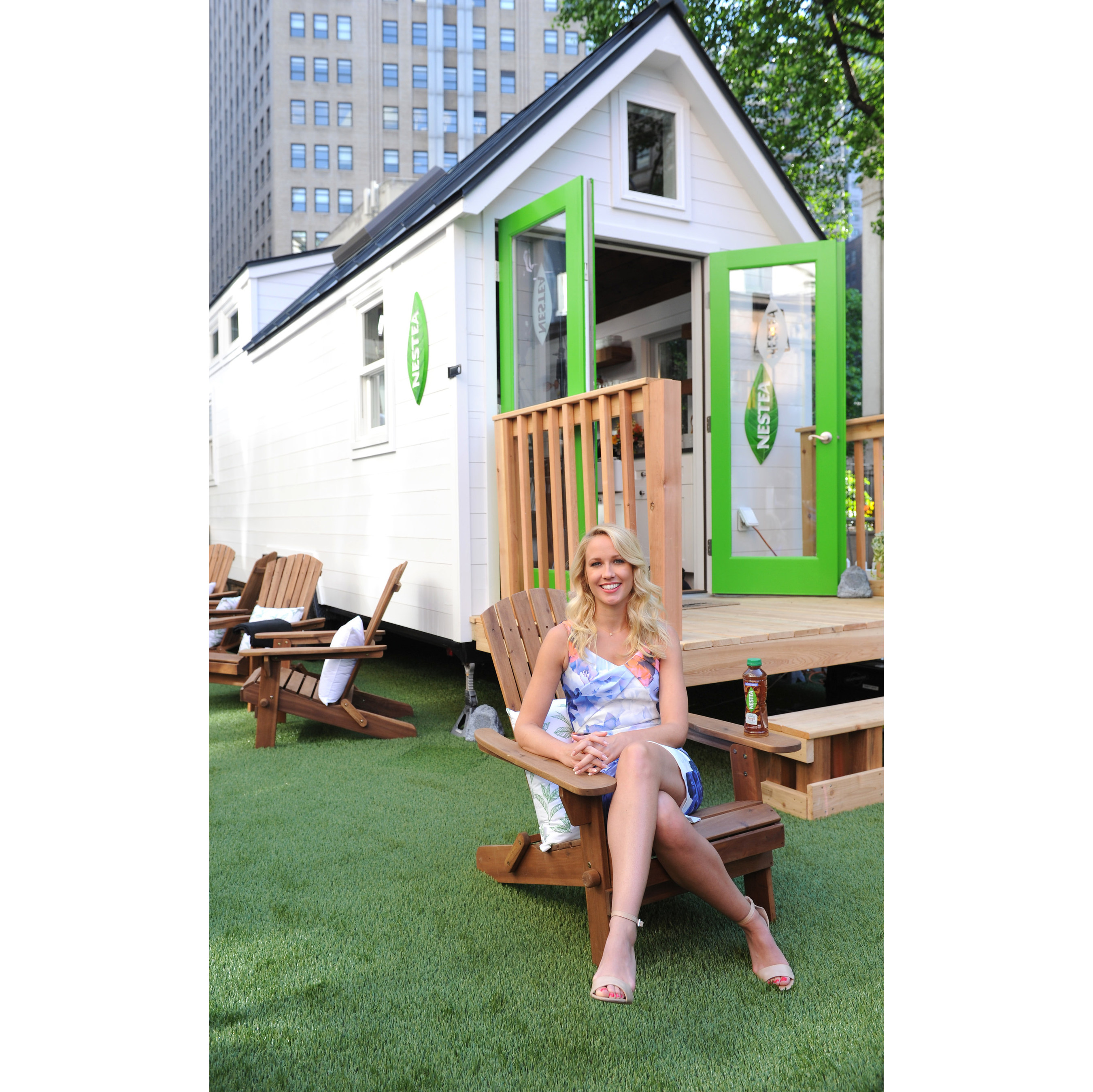 NEW YORK, NY - MAY 17: Actress Anna Camp launches the new NESTEA in Herald Square at the NESTEA Tiny House on May 17, 2017 in New York City. Designed in part by bloggers Southern Bite, Inspired by Charm, and Hapa Time, the NESTEA Tiny House is unveiled in Herald Square. (Photo by Craig Barritt/Getty Images) (PRNewsfoto/NESTEA)