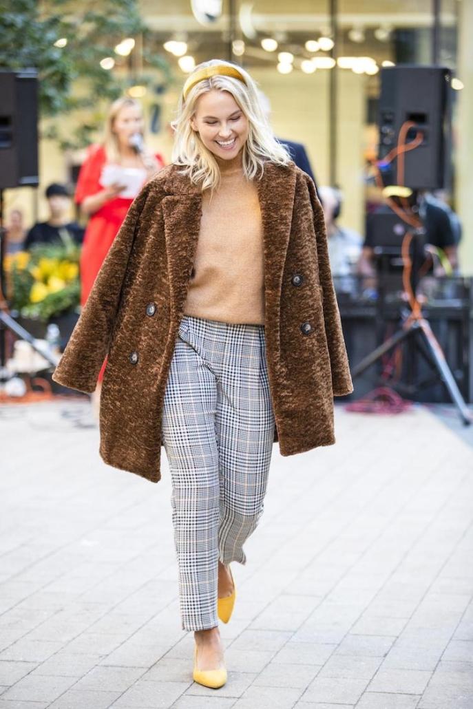 Intern Lindsay modeling in Primark fashion show