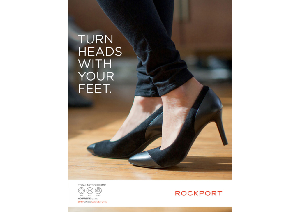 Advertising campaign for Rockport heels