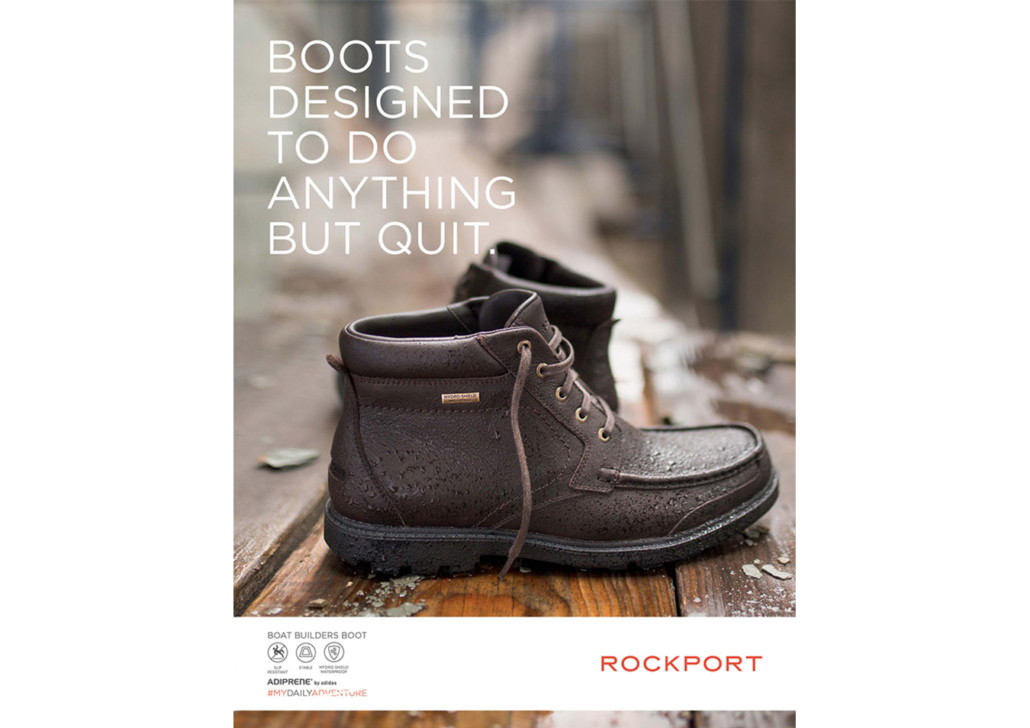 Advertising campaign for Rockport boots