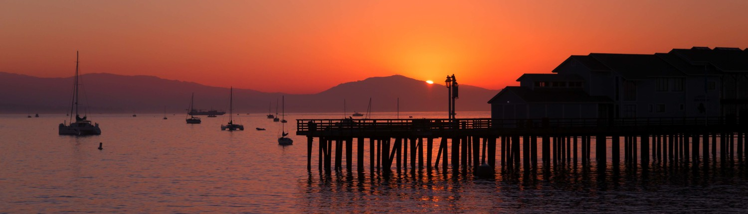 orange sunset in Santa Barbara for CBC Sidebar