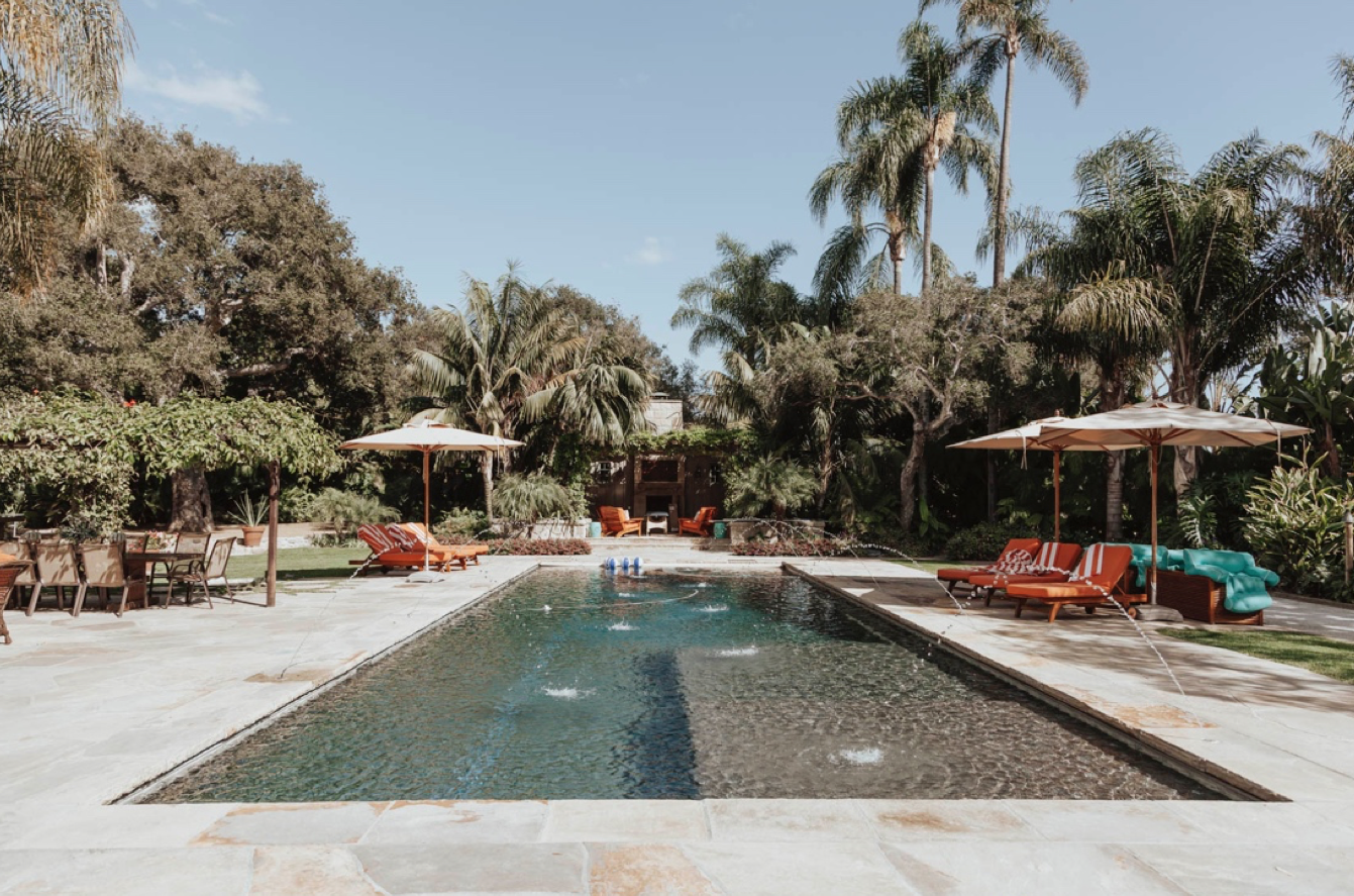 Poolside relaxation at CBC Fall House 2018