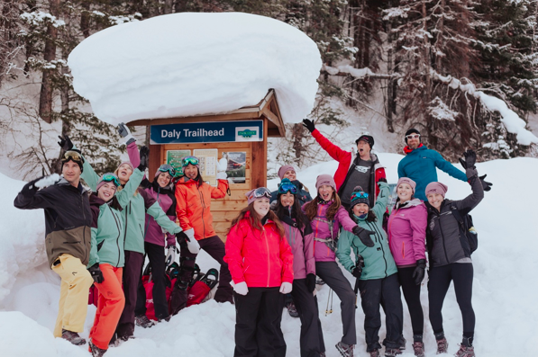 Group picture during snow shoe walk