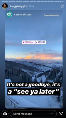 Goodbye Deer Valley social post