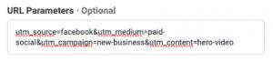 screenshot showing what a UTM url looks like