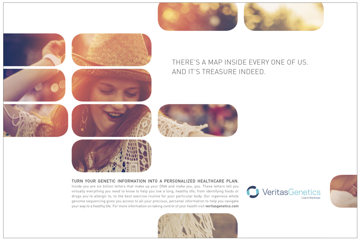 Woman happily dancing for Veritas Genetics Ad