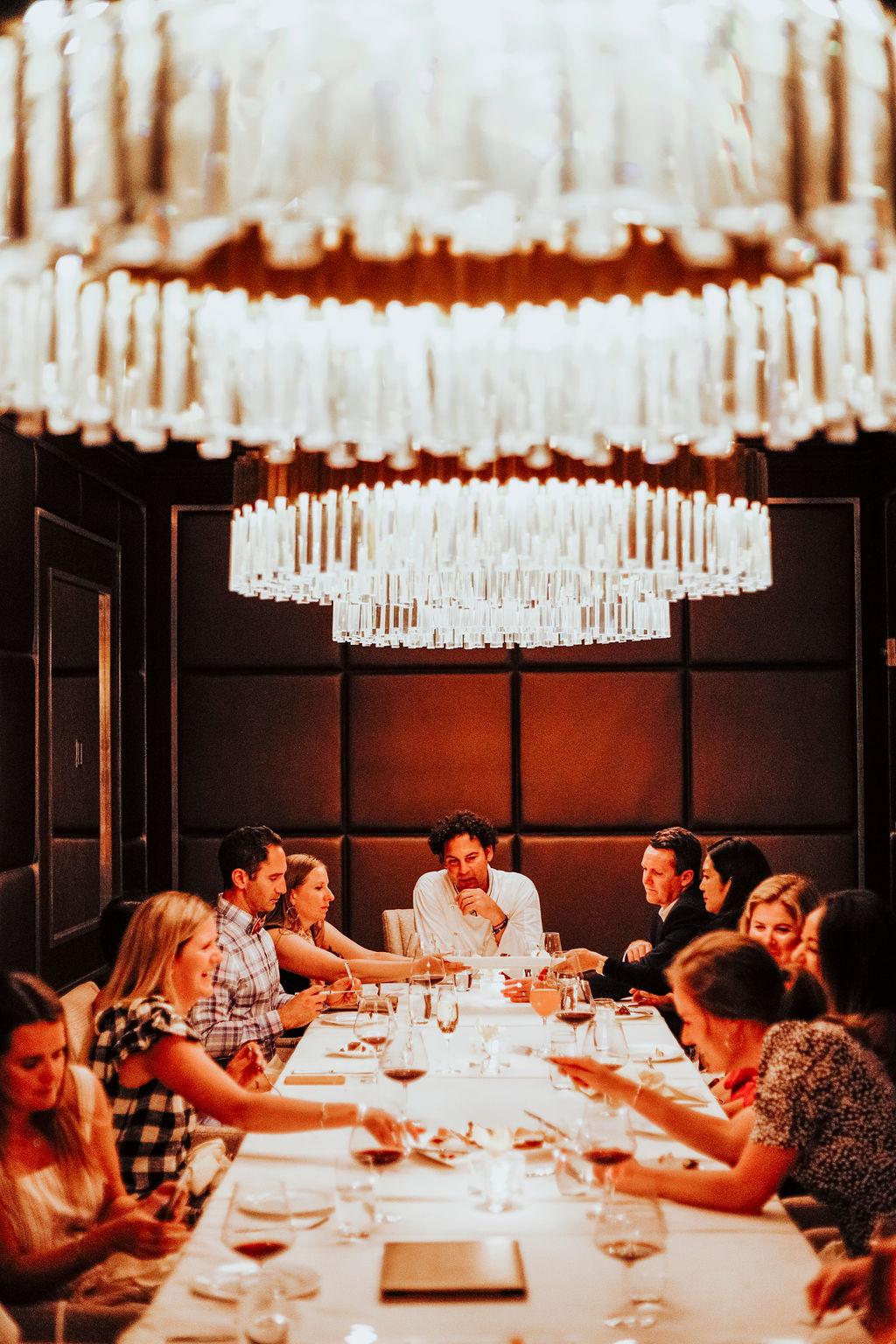 Influencers at dinner, Hotel Bennet