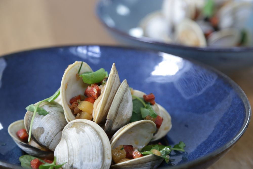 clams in a dish